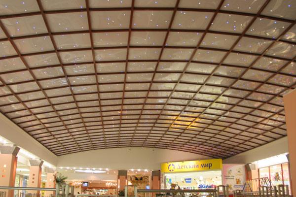 Подвесной потолок из поликарбоната